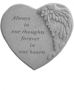 Winged Heart Memory Stone