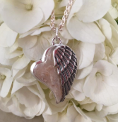 Winged Heart Pendant Sterling (L)