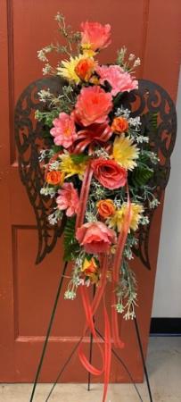 Wings of Faith Silk Standing Spray in Brenham, TX | Sunny Day Blossoms Design Studio