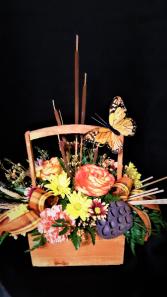 wings of fall basket arrangement