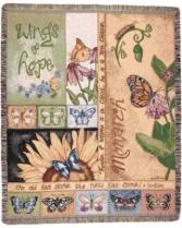 Wings of Hope Tapestry Throw