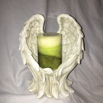 Wings of Love Candle Holder Surround with Flowers
