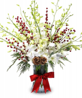 Winter Berries & Orchids Arrangement