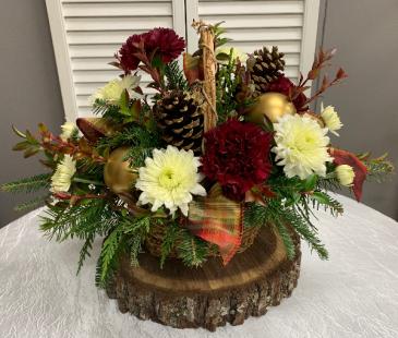 Winter Blooms Basket Basket