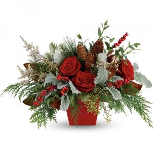Winter Blooms Centerpiece  in Cloquet, MN | SKUTEVIKS FLORAL
