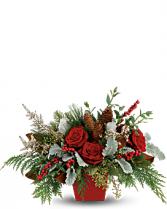 Winter Blooms Centerpiece Christmas