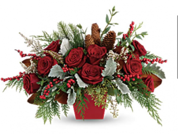 Winter blooms  Holiday Centerpiece