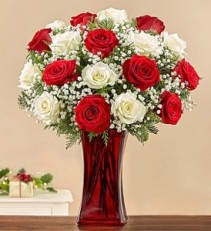 Winter & Bright Rose Bouquet holiday