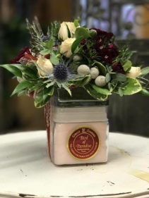 Winter Candle Bouquet