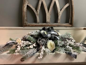 Winter Centerpiece Silk Arrangement