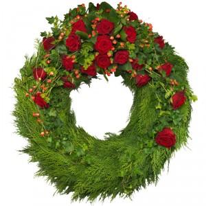 Winter Charm Sympathy Wreath