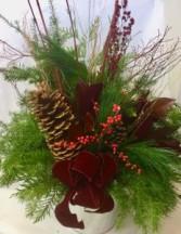 Winter Doorstep Wonderland Planter