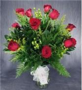 Winter Dozen Red Roses