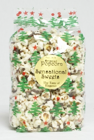 Winter Drizzled Popcorn Gourmet Food