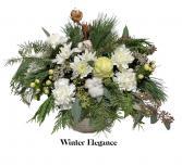 Winter Elegance Container Arrangement