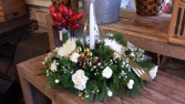 Winter Elegance Hurricane Arrangement Christmas
