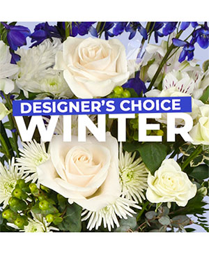 Winter Florals Designer's Choice in La Grange, TX | Frogs & Flamingos Florist