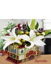 Winter Flower Train Arrangement