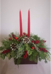 Winter Frost Candle Centerpiece