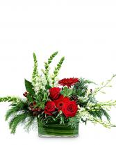 Winter Garden Table Centerpiece