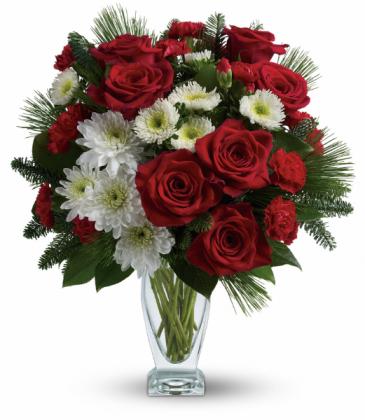 Winter Kisses Bouquet All-Around Floral Arrangement