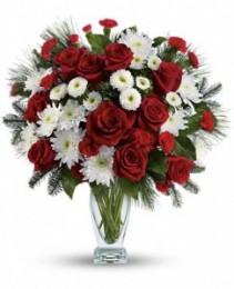 Winter Kisses Bouquet Fresh Arrangement