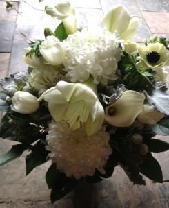 Winter Monochromatic  Vase Arrangement