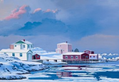 Winter Morning Rock Harbour Ed Roche Prints