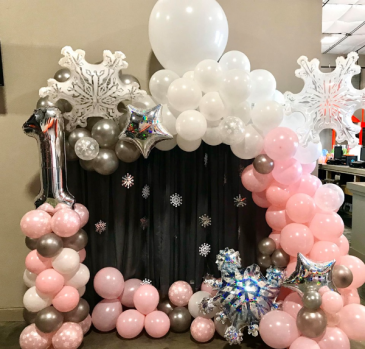 Winter ONEderland Balloons Balloon Garland Baby