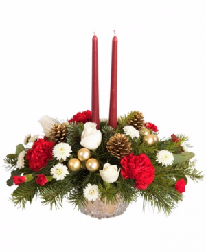 Winter Pines Centerpiece in Winston Salem, NC | RAE'S NORTH POINT FLORIST INC.