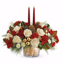 Teleflora's Winter Pines Centerpiece Centerpiece