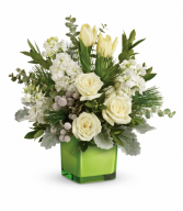 Winter Pop  One-Sided Floral Arrangement