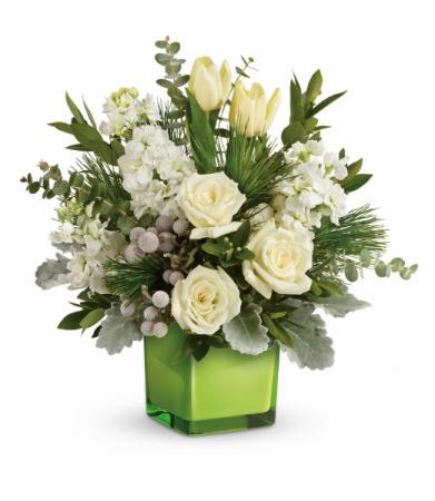 Winter Pop  One-Sided Floral Arrangement
