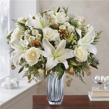 Winter Radiance™ in Silver Vase Arrangement