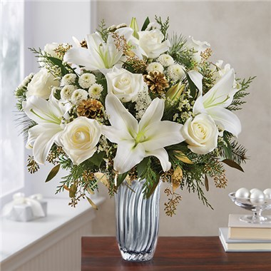 Winter Radiance™ in Silver Vase Arrangement