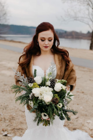 Winter Realness Bridal Bouquet  wedding bouquet  in Trumann, AR | Blossom Events & Florist