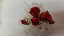 Winter Red corsage
