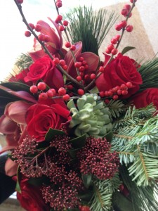 Winter Red Handtied Bouquet