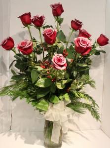 Winter Romance Rose Arrangement