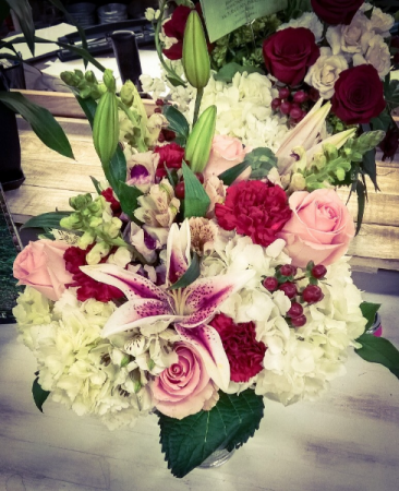 Winter Romance Vase Arrangement