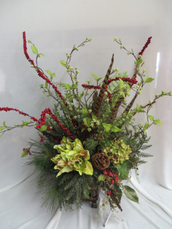 Winter silk 3 silk arrangement in farmville va carters flower shop - Best dried flower arrangements a colorful winter ...