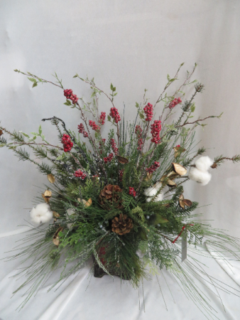 Winter silk 5 silk arrangement in farmville va carters flower shop - Best dried flower arrangements a colorful winter ...