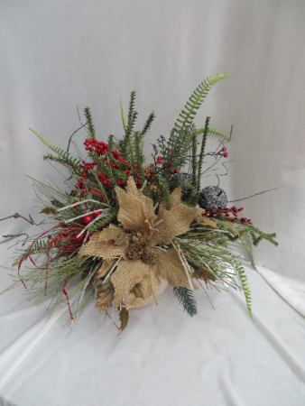 Winter silk 6 silk arrangement in farmville va carters flower shop - Best dried flower arrangements a colorful winter ...