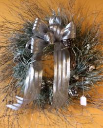 Winter Silver WR1 Silk Wreath