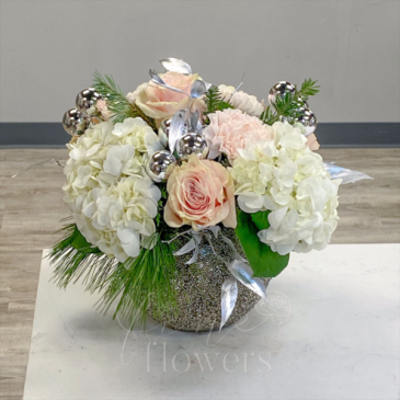 Winter Sparkle Vase Arrangement
