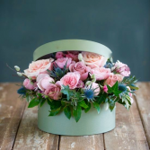 Winter Splendor  Hat Box Florals