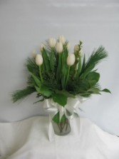 Winter Time Tulips vase arrangement