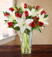 WINTER TULIP AND LILY BOUQUET