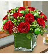 Winter Warmth™ in Red and Green Arrangement