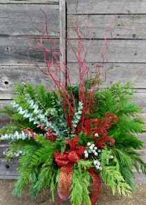 Winter Whimsy Outdoor Planter Christmas